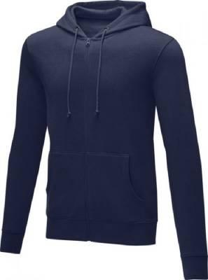 Theron Hoodie mit Reißverschluss für Herren-blau(navyblau)-S