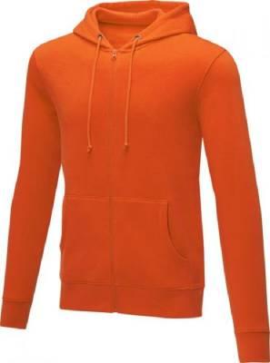 Theron Hoodie mit Reißverschluss für Herren-orange-S