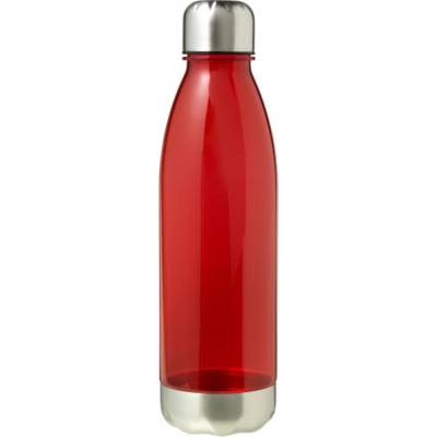 Transparente Trinkflasche Santiago aus AS-rot