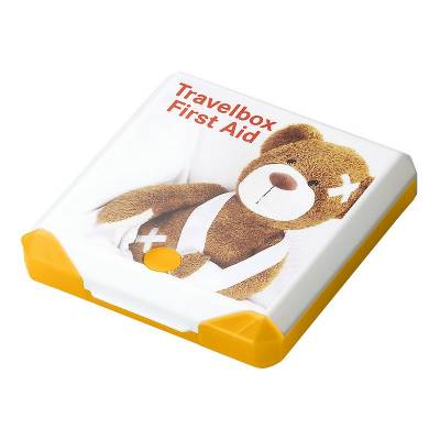 Travelbox First Aid-gelb