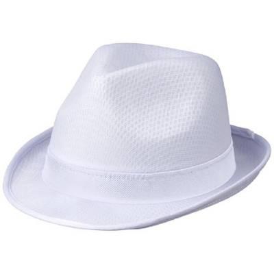 Tribly Hut mit Band-weiß-weiß