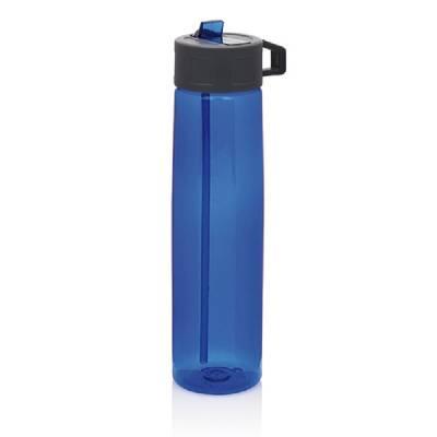 tritan trinkflasche mit strohhalm blau als werbegeschenke mit logo bedrucken. Black Bedroom Furniture Sets. Home Design Ideas