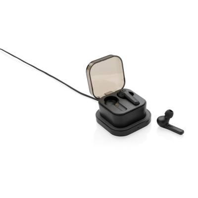 TrueWireless Ohrhörer in kabelloser Ladebox-schwarz