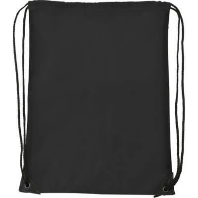 Turnbeutel Basic aus Polyester-schwarz