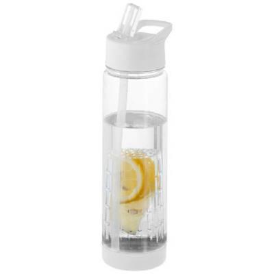 Tutti frutti Trinkflasche mit Fruchtsieb-weiß
