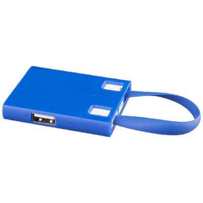 USB Hub & 3 in 1 Kabel-blau(royalblau)