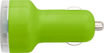 USB-KFZ Ladestecker Gardaland-grün(hellgrün)