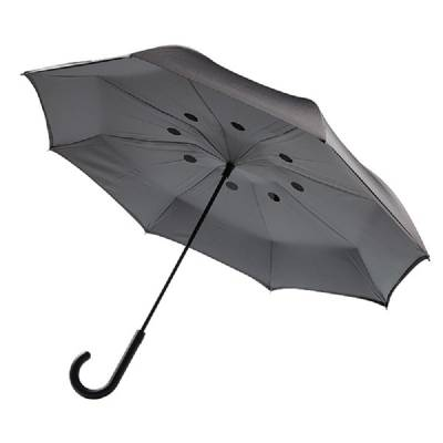 Umgekehrter Regenschirm 23 Zoll - grau