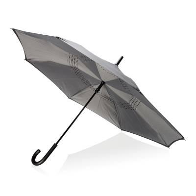 Umgekehrterm manueller 23 Zoll Regenschirm-grau