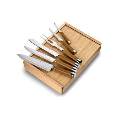 Küchenbesteck-Messerset Hamm in Holzbox-holz-