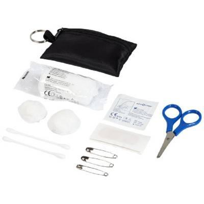 Valdemar 16-teilige Erste-Hilfe-Tasche mit Schlüsselanhänger-schwarz