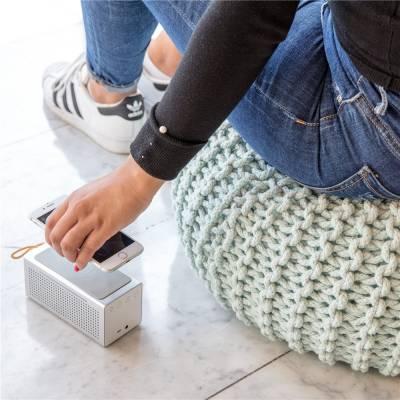 Vibe Wireless-Charging Lautsprecher-grau