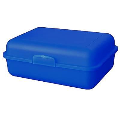 Vorratsdose School-Box groß, mit Trennschale-blau(trendblau)