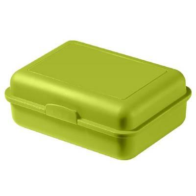 Vorratsdose School-Box groß, mit Trennschale-grün(limettgrün)