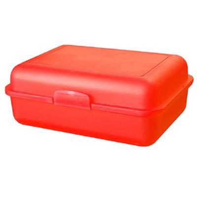 Vorratsdose School-Box groß, mit Trennschale-rot(trendrot)