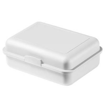 Vorratsdose School-Box groß, mit Trennschale-weiß
