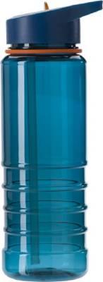 Wasserflasche Straw aus transparentem Kunststoff (700 ml)-blau