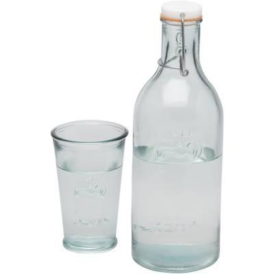 Wasserkaraffe mit Glas-transparent