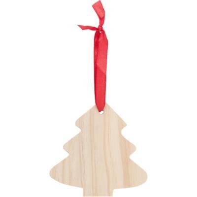 Weihnachtsbaumanhänger X-MAS Tree aus Holz