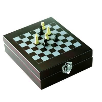 Weinset Troisdorf mit Schachspiel, 5-teilig-holz-