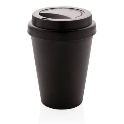 Wiederverwendbarer doppelwandiger Kaffeebecher Koblenz 300ml-schwarz