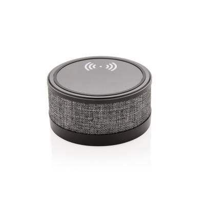 Wireless-Charger mit Lautsprecher im trendigen Stoffbezug