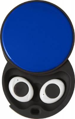 Wireless Kopfhörer Bud in Kunstoff-Box-blau(kobaltblau)
