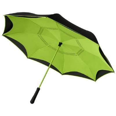 Yoon 23 Zoll umkehrbarer farbiger gerader Regenschirm-grün(limettgrün)