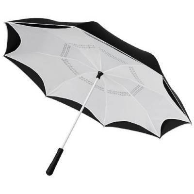 Yoon 23 Zoll umkehrbarer farbiger gerader Regenschirm-weiß