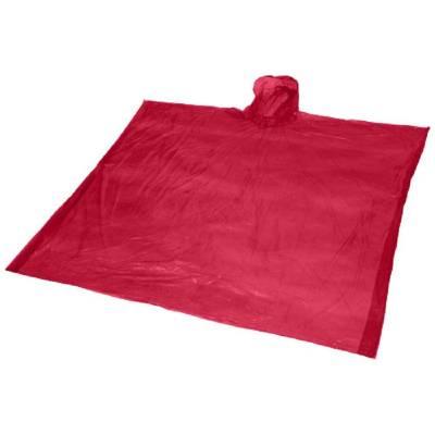 Ziva Einweg Regenponcho mit Hülle-rot-one size