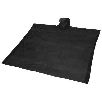 Ziva Einweg Regenponcho mit Hülle-schwarz-one size