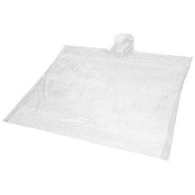 Ziva Einweg Regenponcho mit Hülle-weiß-one size