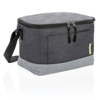 Zweifarbige RPET Kühltasche-grau