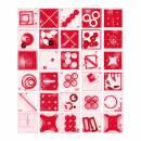 Pussycat Geduldspiel-Set Multiplex - transparent rot