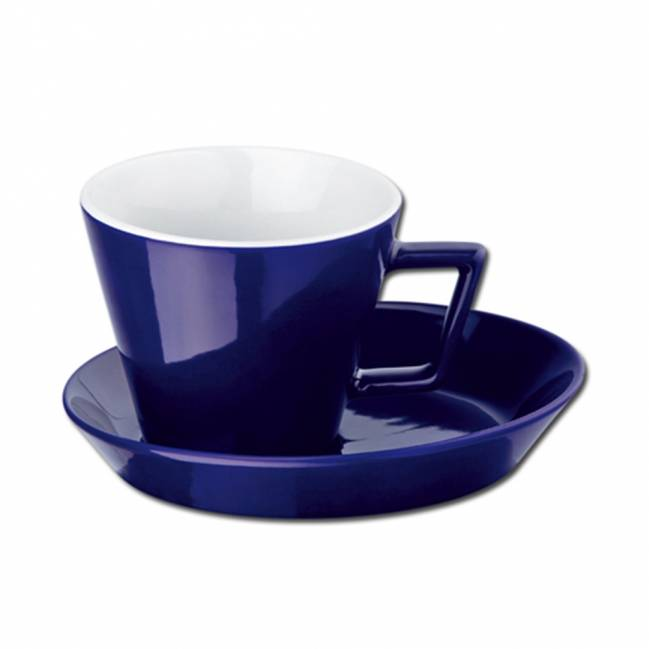 claude tasse mit untertasse blau als werbemittel mit logo bedrucken er04348 24. Black Bedroom Furniture Sets. Home Design Ideas