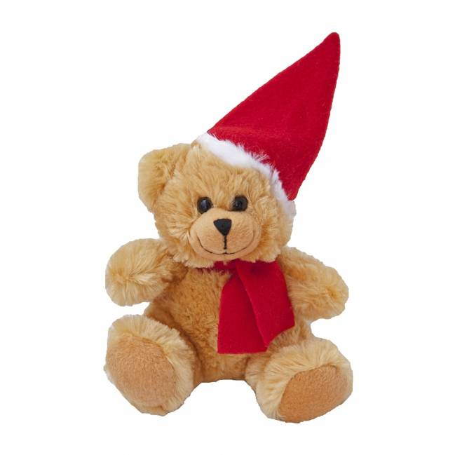 weihnachts teddyb r olaf braun als werbeartikel mit logo. Black Bedroom Furniture Sets. Home Design Ideas