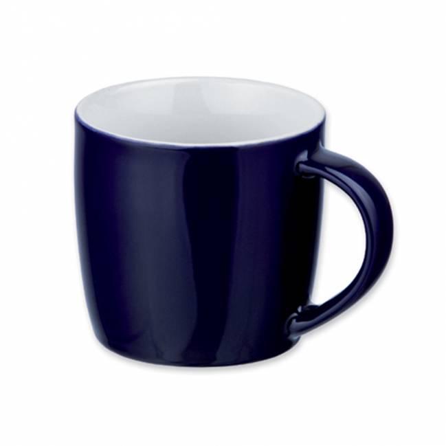 hercule tasse mit l ffel blau als werbemittel mit logo bedrucken er04199 24. Black Bedroom Furniture Sets. Home Design Ideas