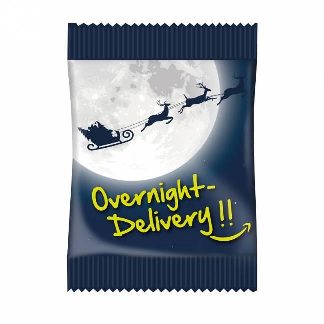 overnight weihnachts fruchtgummi 4 farbig mit logo. Black Bedroom Furniture Sets. Home Design Ideas