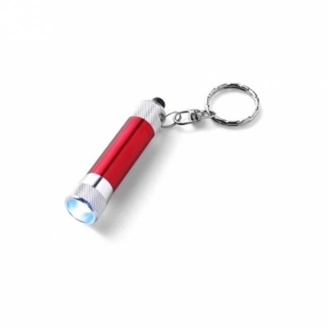 Schlüsselanhänger Görlitz mit LED-Lampe-rot-Eigenlager als ...