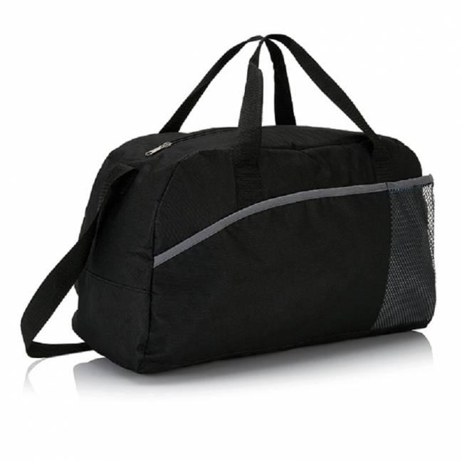 a0a5a01476c0d Sporttasche Saalfelden - schwarz als Werbegeschenke mit Logo ...