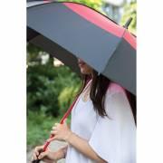 27 Zoll Duo Color Storm-Proof Schirm mit automatischer Öffnu-rot
