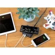 3 in 1 USB & 10W Wireless-Charging Ladegerät-schwarz