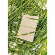 A5 Eco Jute Baumwoll-Notizbuch-grün