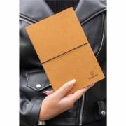 A5 Notizbuch aus recyceltem Leder-braun