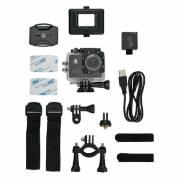 Action Kamera mit Zubehör - schwarz