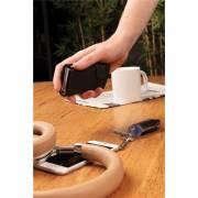 Aluminium RFID Kartenhalter mit PU-Börse-schwarz