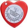 BMI Maßband Heart-rot