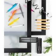 Bambus Stift Greiz mit Wheatstraw-Clip-schwarz