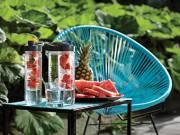 Wasserflasche mit Aromafach - blau