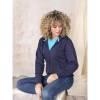 Damen Ruby Hoodie mit Reißverschluss Bio Material-blau(navyblau)-S
